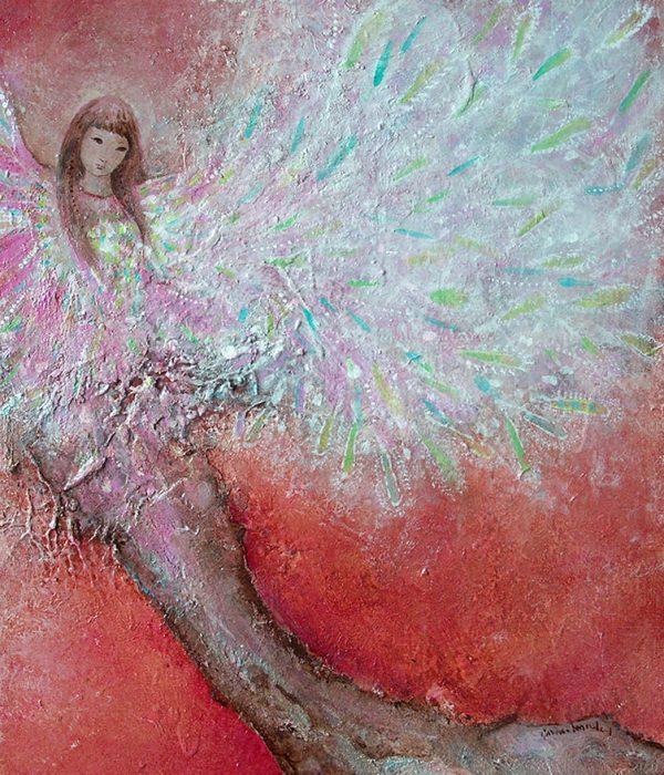 Esprit de l'arbre - Acrylique/toile - 38 x 46 cm
