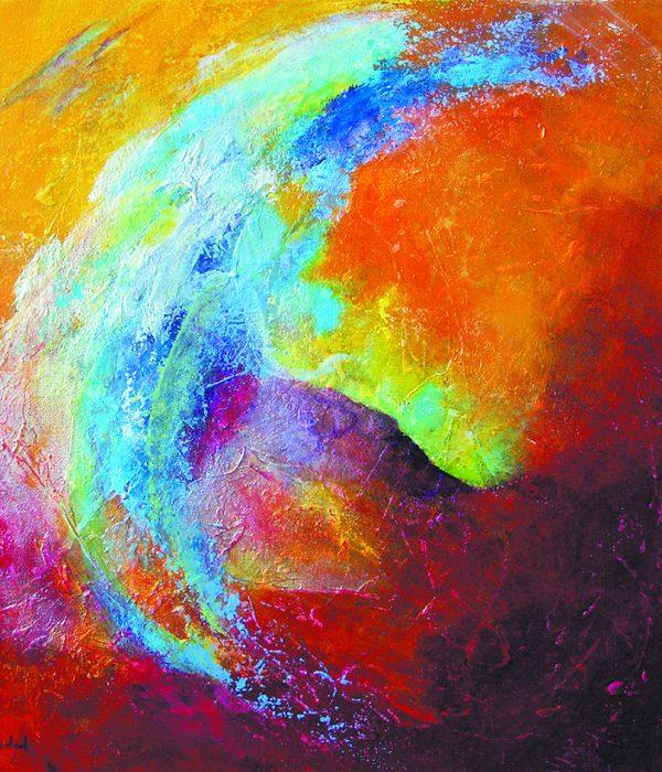 Le rêveur - Acrylique/toile - 50 x 50 cm
