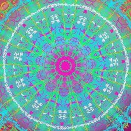 Mandala vibratoire, purification par la terre – Version numérique