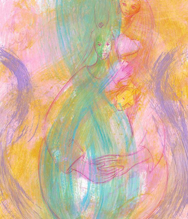 Une lignée féminine : posée, douce et puissante, on sent malgré tout le poids du silence et des non-dits.